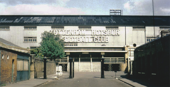 White Hart Lane's old West Stand in the 1960s